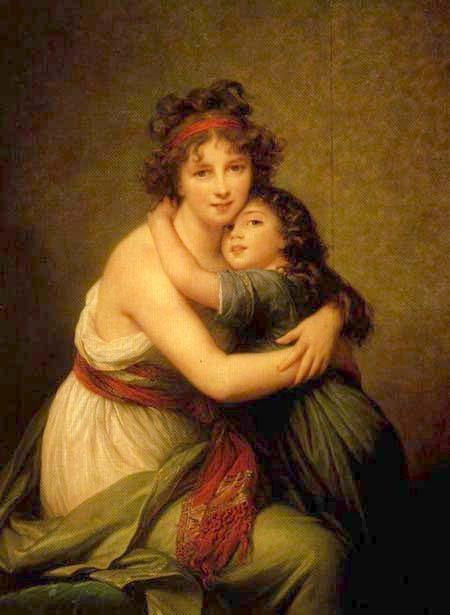 "Élisabeth-Louise Vigée Lebrun, ""Autorretrato con su hija"""